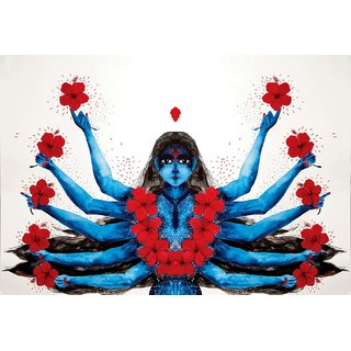 Tallenge - Contemporary Art - Kali - Small Size Unframed Rolled Digital Art Print On Photographic Paper For Home And Office Decor (8x12 Inches)