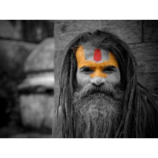 Tallenge - Varanasi Sadhu - Small Size Unframed Rolled Digital Art Print On Photographic Paper For Home And Office Decor (9x12 Inches)