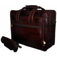 Bag Jack - Aurigae Brown Color Leather Laptop Bag