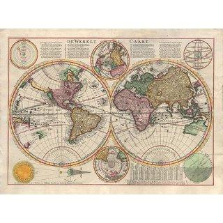 Buy Tallenge Decorative Vintage World Map De Werelt Caart