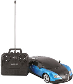 Bugatti Veyron Rechargeable Remote Control 1 24 Model Car (Black-Blue, Black-Red)