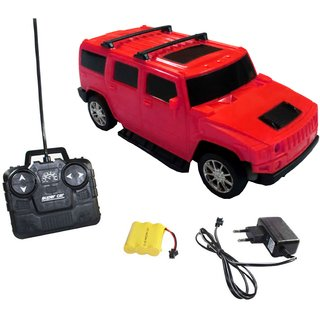 Remote Controlled Rechargeable Hummer Model Car 1-24 (Red / Yellow)