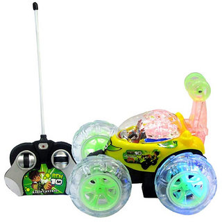 Fantasy India Remote Control Rechargeablestunt Car - Multicolour