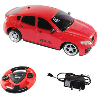 Fantasy India Red Remote Control Rechargeable Car With Steering