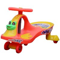 Abasr Multicolour Baby Swing Car - Ride On Car For Kids