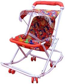 Abasr Red 3 In 1 Baby Kids Walker  Fancy And Strong Steel Walker