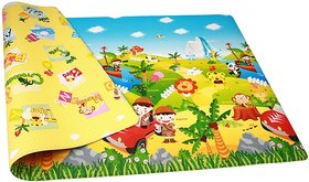 Double Sided Baby Crawl  Play Mat Carpet - Water resistant (Color and design may vary)(6ft X 4 ft)