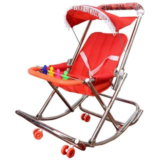Abasr Baby Kids Steel 4 In 1 Dlx Styles Red Walker