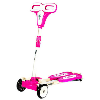 Fantasy India 4 Wheel Zip Flick Style Double Board Scooter - Pink