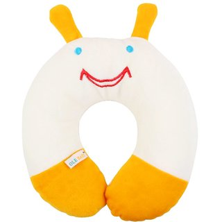 Ole Baby Alien Cartoon Face Neck Support Pillow, Children'S Neck Pillow, Soft And Plush,Yellow 0-12 Months
