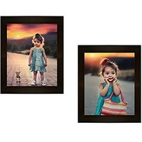 PHOTO FRAME 2 PIECES BROWN WALL HANGING COLLAGE BY FR@ME @RT