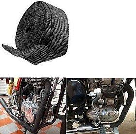 Delhitraderss Silencer Wrap Bike Exhaust Heat Shield LENGTH-3 cm For Bullet