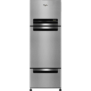 Whirlpool FP 263D Protton Roy 240L Frost Free Triple Door Refrigerator Mirror Black