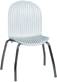 Royal Koas Fix Cafetaria Sleek Back Revolving White Chair