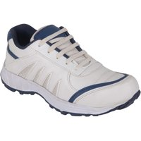 Jokatoo Men's White And Blue Running Shoes