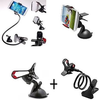 Combo of Car Mobile Holder+Lazy Mobile Stand