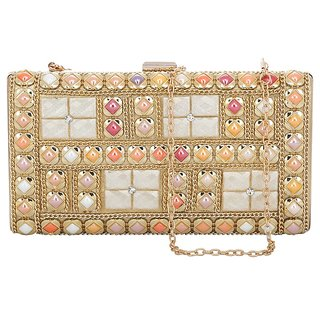 Kleio Designer Elegant Party/ Bridal Box Clutch  ESR200033KL-M1