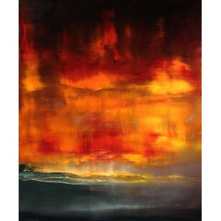 Tallenge - Red Sunset - Xlarge Size Unframed Rolled Digital Art Print On Photographic Paper For Home And Office Decor (25x30 Inches)