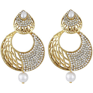 Styylo Fashion Exclusive Golden White Earrings Set /S 371