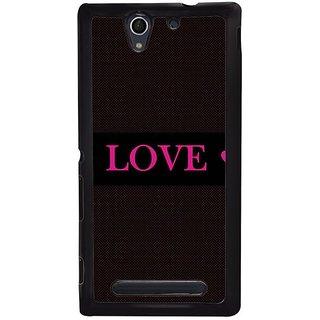 Fuson Designer Phone Back Case Cover Sony Xperia C4 ( True Love )
