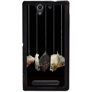 Fuson Designer Phone Back Case Cover Sony Xperia C4 ( Hanging Bags Of Spices )