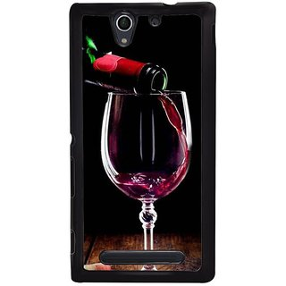 Fuson Designer Phone Back Case Cover Sony Xperia C4 ( Pouring Wine Into The Glass )