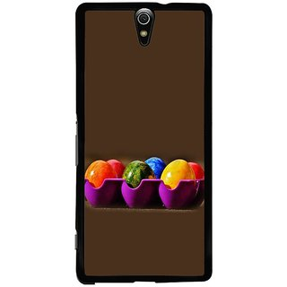 Fuson Designer Phone Back Case Cover Sony Xperia C5 Ultra Dual ( Coloured Eggs In The Tray )
