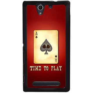 Fuson Designer Phone Back Case Cover Sony Xperia C4 ( Time For The Cards Game )