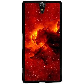 Fuson Designer Phone Back Case Cover Sony Xperia C5 Ultra Dual ( Clouds Of Orange And Red )