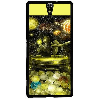 Fuson Designer Phone Back Case Cover Sony Xperia C5 Ultra Dual ( Girl Immersed In Astronomy )