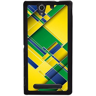 Fuson Designer Phone Back Case Cover Sony Xperia C4 ( Piece Off The Colourful Blocks )