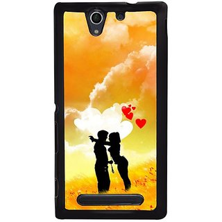 Fuson Designer Phone Back Case Cover Sony Xperia C4 ( Two People In Love )