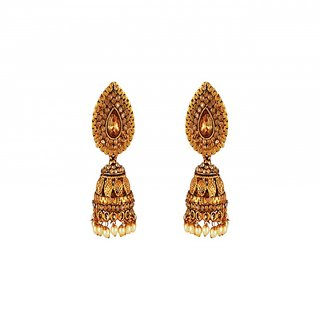 Aashish Imitation Gold Plated Jhumki Earring For Women