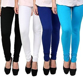 Collection Cotton Lycra Leggings Combo of 4