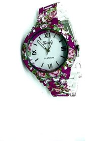 FAP Geneva Analog Pink Colour Womens Ladies Girls Fancy Watch