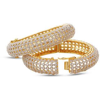 Jewels Galaxy Elegant Set Of 2 AD Bangles