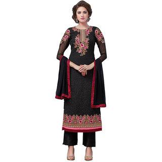 Swaron Black Colour Georgette Salwar Suit 415D4037 (Unstitched)