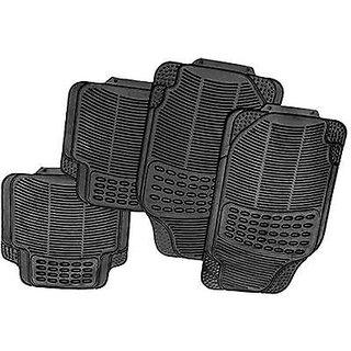 Universal Car Black Footmats + Non Slip Mat