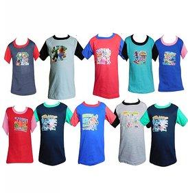 Jisha Fashion RKGH10 Boys Half Sleeve Tshirt ( Pack of 10)