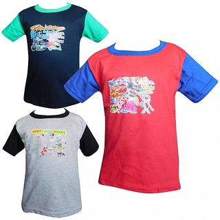 Jisha Fashion RKGH3 Boys Half Sleeve Tshirt ( Pack of 3 )