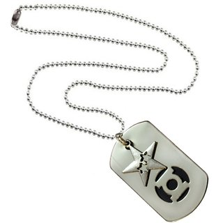 Men Style Star Shape Silver and Black Stainless Steel Square Necklace Pendant For Men And Boys