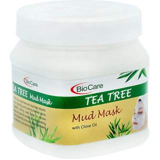 Bio Care Tea Tree Mud Mask With Clove Oil