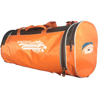5e390269cd Bagther Green Orange Nylon Travel Duffle Bag(No Wheels)