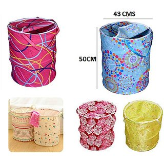 Kudos Round Polyester Laundry Bag pack of 1 ( Small Size )