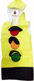 Traffic Signal Red Light Fancy Dress Costume For Kids