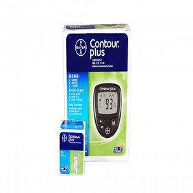 Bayer Contour Plus Glucometer Kit with 25Test Strips