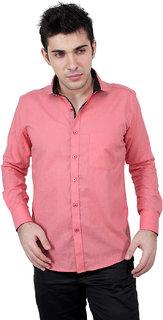 Zeal 100 Cotton Dark Pink-Black Casual Shirt for Men