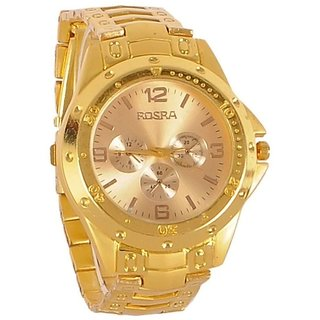 Rosra  mens analog watch gold