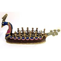handmade  Brass Peacock Boat in  Bastar Art of Handmade Fine Collection of BY vyomshop