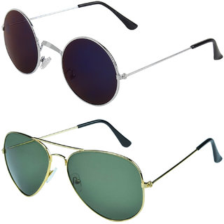 dae15f4d2ff Buy Zyaden Combo of Round And Clubmaster Sunglasses (Combo-211 ...